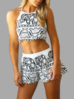 Elephant Pattern Open Back Co-ord