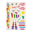 Hand and Irregular Pattern Metallic Temporary Tattoo Sticker