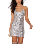 Strappy Scooped Back Dress in Sequins