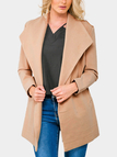 Khaki Lapel Collar Duster Coat