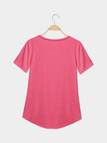 Casual Front Pocket Style V-neck T-shirt