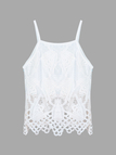 White Hollow Out Cami