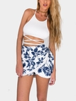 Cut Out Top and Wrap Front Skirt  Co-ord