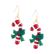 Christmas Stick Drop Earrings