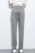 Gray Joggers With White Side Border