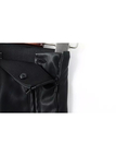 Leather Trousers with Zipper Detail