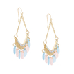 Hoop Drop Earrings With Colorful Drops