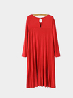 Double Layer 3/4 Length Sleeve Pleat Dress