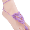 Lace-up Details Tribal Crochet Anklets