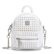 Rivet Deisgn Leather-look Mini Backpack in White