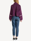 Purple Knitted Jumper with Zipper Details