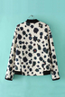 Floral Print Jacket with Stand Collar