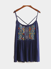 Sleeveless Top with Embroidery Pattern in Bohemia