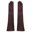 Long Leather Gloves in Burgundy
