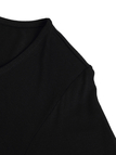 Black Flared Sleeves Simple Style Cropped Top