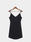 Black V-neck Bodycon Mini Cami Dress