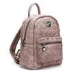 Woven Mini Backpack in Pale Pink