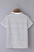 Casual Stripe Pattern Round Neck T-shirt