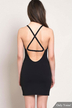 Cut Out Backless мини-платье