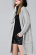 Light Grey Knitted Duster Cardigans