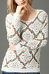 Patterned Pullover Kintted Jumper