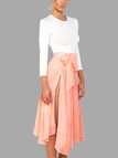Long Sleeves Top & Side Split Skirt Co-ord