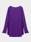 Purple Loose Women Casual Blouse