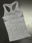Grey Sports Racer Back Vest