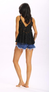 Prespective Hollow Out Sexy V-neck Lace Vest