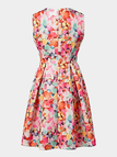 Sleeveless Floral Printing Mini Dress