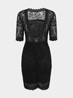 Black Backless Lace Mini Dress