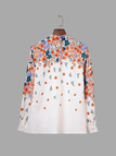 Floral Print Long Sleeves Shirt with Button Cuffs