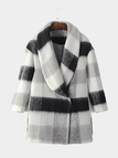 Checked Duffle Coat in Black and White