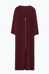 Burgundy Zip Front Midi Dress