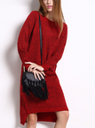 High Low Jumper Dress in Red