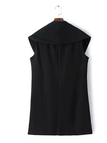 Oversized Lapel Gilet with Single Button