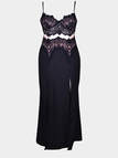 Cami Lace Dress With Split And Cut Out Waist Front
