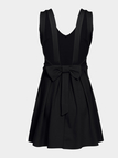 Black Sexy Chiffon Cami Mini Dress with Bow-knot Fastening