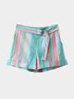 Fashion Multi Color Stripe Pattern Shorts