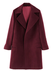 Burgundy Duffle Coat with Belt