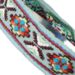 Ethnic Embroidered Headband in Light Blue