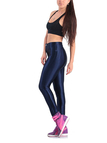 Navy Button Sports Leggings