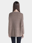 V-neck Knitted Jumper in Coffee
