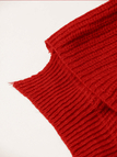 Ribbed Knit Jumper in Red