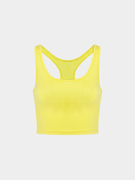 Giallo Top Crop Con Scoop