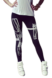 Taille Basse Impression Leggings