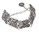 Vintage Bohemian Style Bracelet with Carved Detail