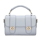 Micro aspect cuir Top Handle Bag in Grey