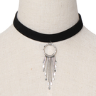 Sliver Swing Pendant Choker Necklace