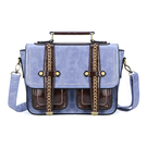 Due tasche frontali in similpelle Messenger Bag